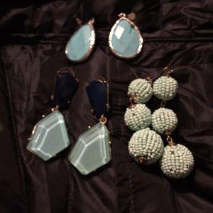 Mint green earring bundle